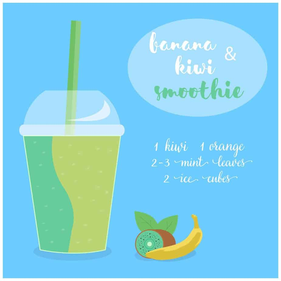 How to make a smoothie - Banana Kiwi Smoothie Recipe
