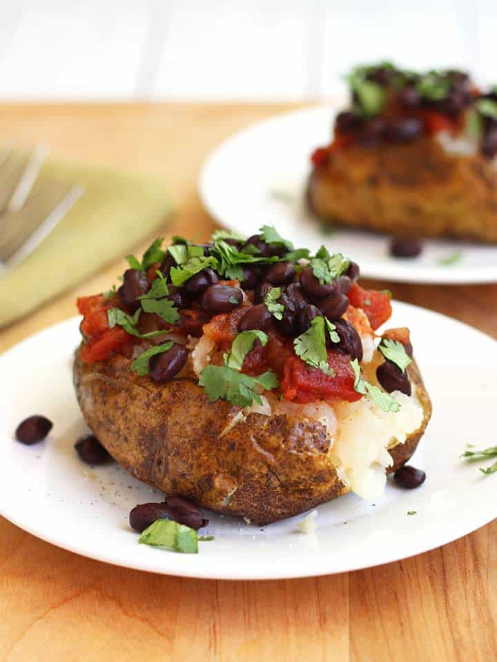 Toaster oven baked potatoes
