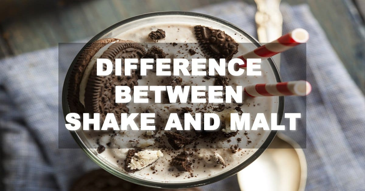 Difference between Shake and Malt