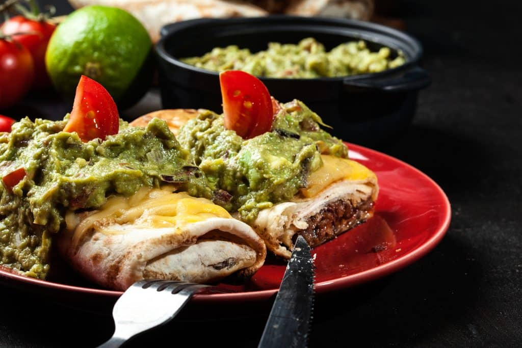 Mexican Chimichanga With Guacamole