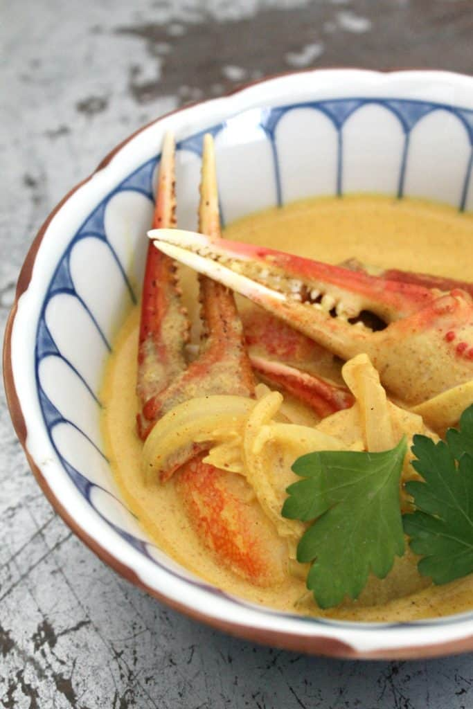 Crab curry sauce