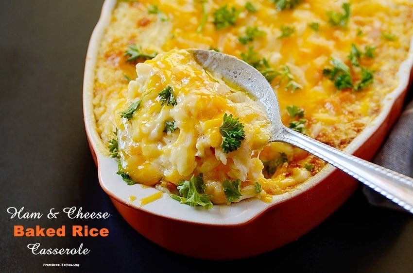 Ham and Cheese Baked Rice