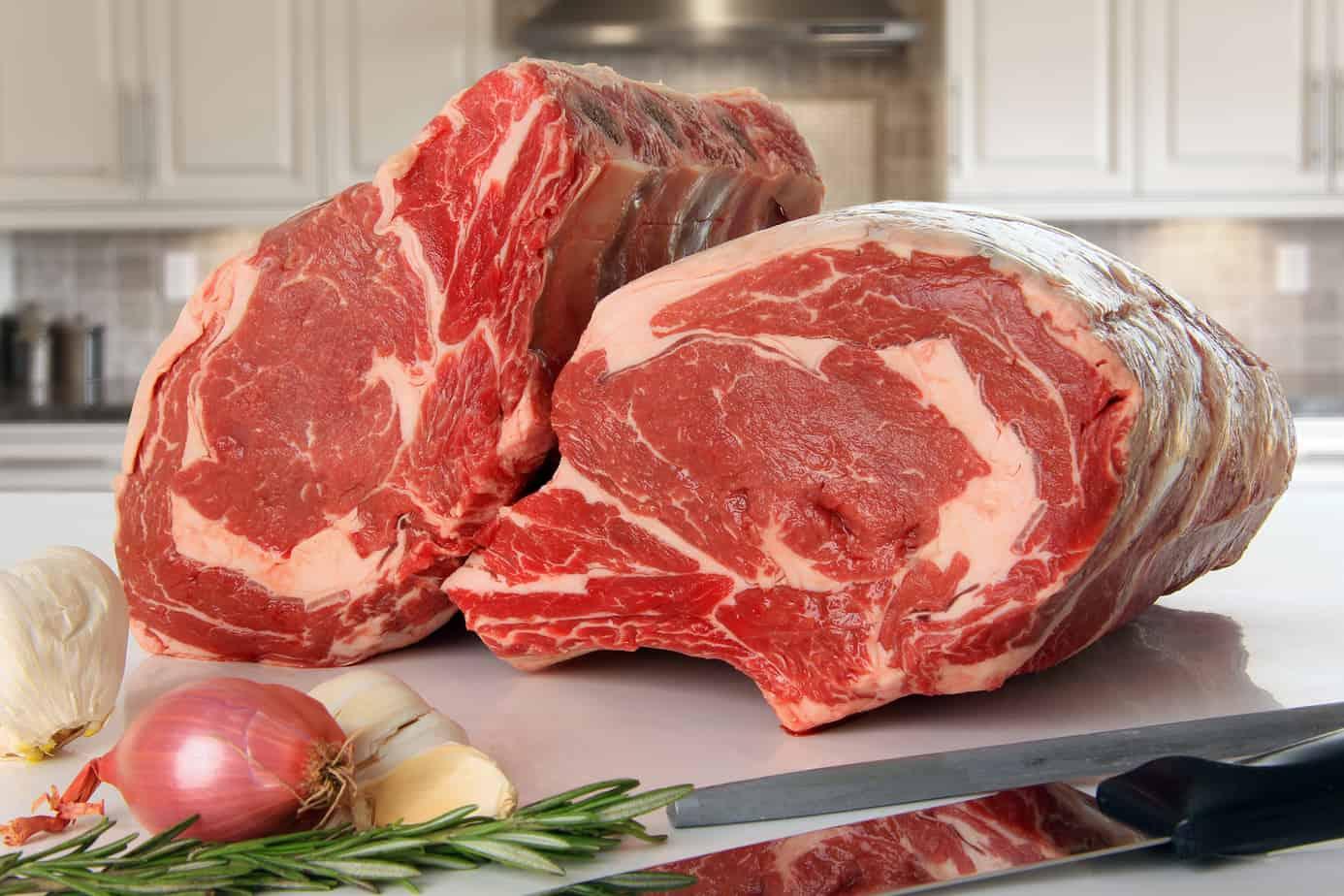 Prime rib beef roast
