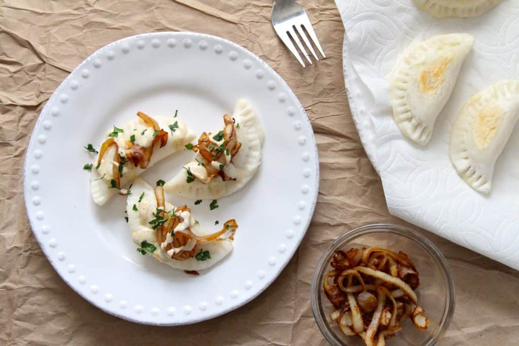 Potato Stuffed pierogies