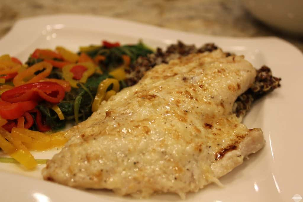 Broiled Grouper with Creamy Parmesan Sauce