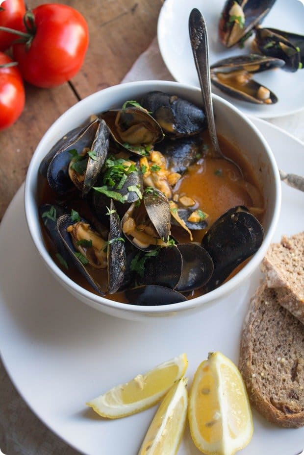Tomato Fennel Mussels