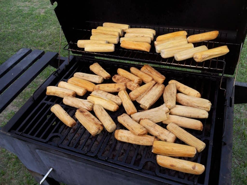 Grilled tamales