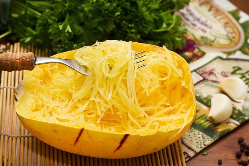 Making spaghetti from squash