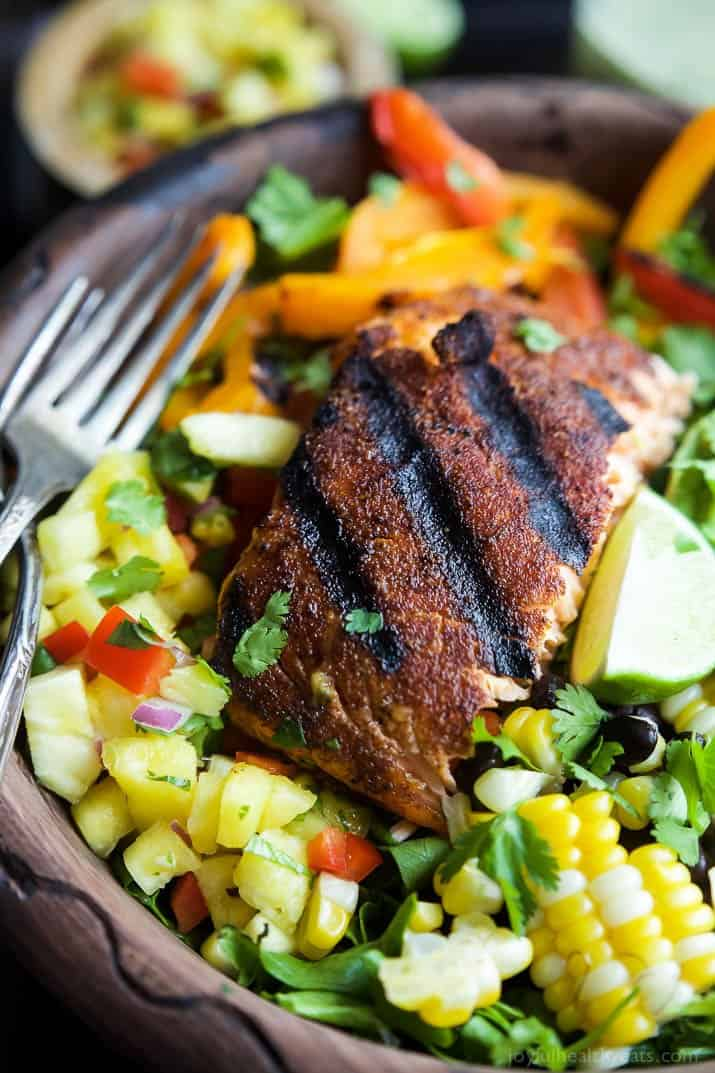 Blackened Grilled Salmon