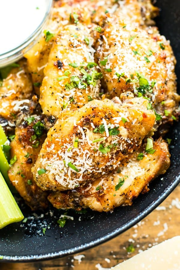 Parmesan Garlic Chicken Wicked Wings