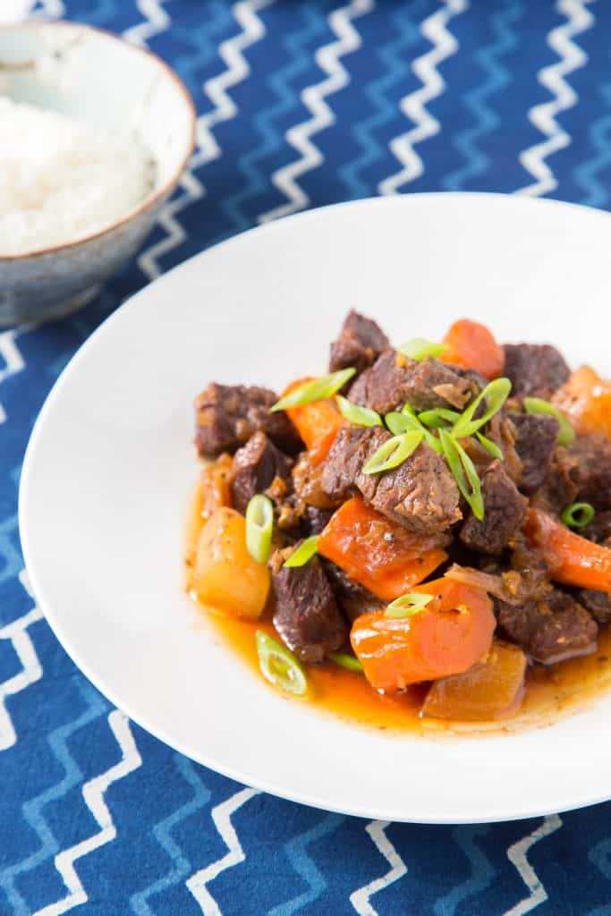 Braised Shortribs with Daikon and Carrot